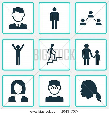 People Icons Set. Collection Of Businesswoman, Scientist, Gentleman And Other Elements