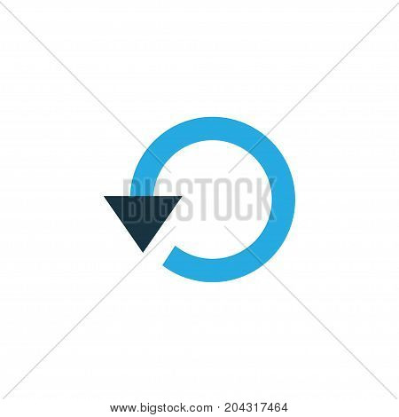 Premium Quality Isolated Repeat Element In Trendy Style.  Replay Colorful Icon Symbol.