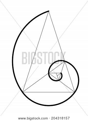 Golden Ratio. Cover Template.
