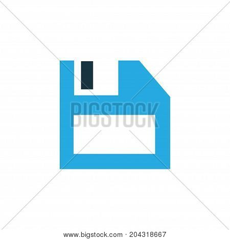 Premium Quality Isolated Diskette Element In Trendy Style.  Floppy Disk Colorful Icon Symbol.