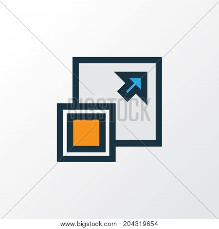 Premium Quality Isolated Maximize Element In Trendy Style.  Enlarge Colorful Outline Symbol.