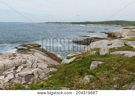 Rocky coastline Peggy's Cove Nova Scotia Canada