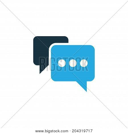 Premium Quality Isolated Note Element In Trendy Style.  Comment Colorful Icon Symbol.