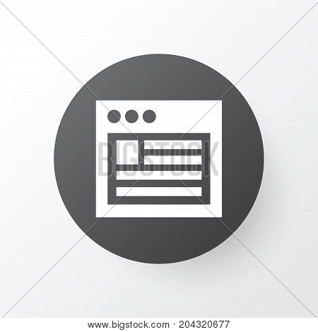 Premium Quality Isolated Web Element In Trendy Style.  Browser Icon Symbol.