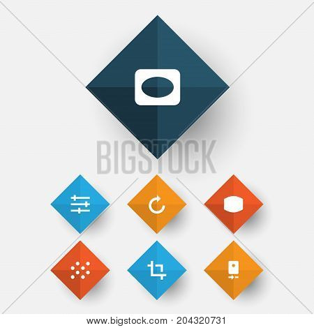 Image Icons Set. Collection Of Frame, Reload, Setting And Other Elements
