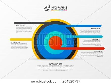 Business target marketing concept. Infographics template. Vector illustration