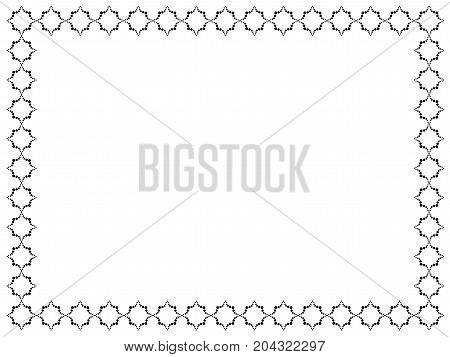 Decorative frame. Round shape.Decorative frame . Rectangular shape. Geometric pattern in black collor