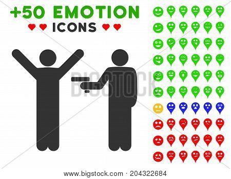 Crime Robbery pictograph with colored bonus avatar images. Vector illustration style is flat iconic elements for web design, app user interfaces, messaging.