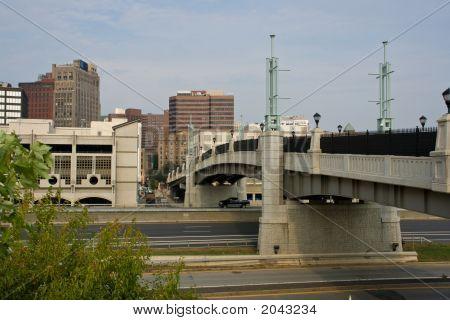 Pedestrian Bridge Spanning A Highway