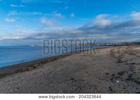 Ayrshire coastline seen from Greenan beach., Ayrshire.