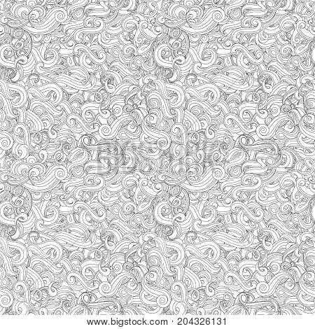 Wave vector seamless pattern. Curves. Nice pattern model