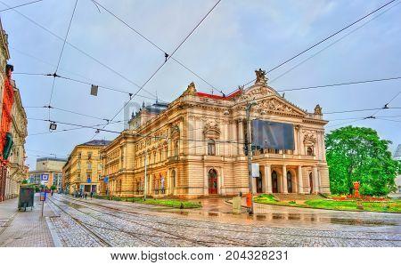 Mahen Theatre in Brno - Moravia, Czech Republic