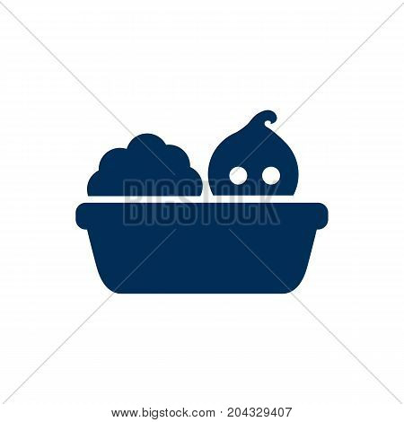 Vector Washing Element In Trendy Style.  Isolated Bathing Icon Symbol On Clean Background.