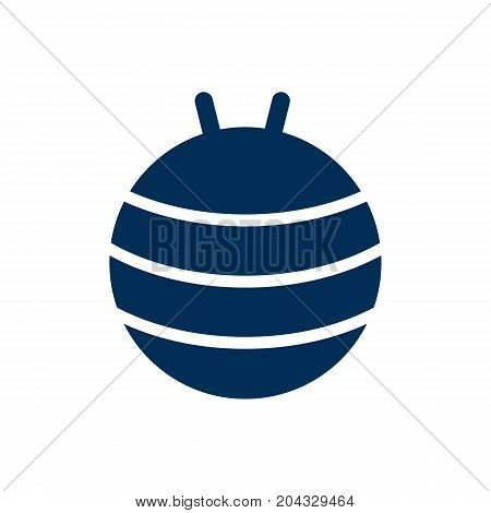 Isolated Gymnastic Ball Icon Symbol On Clean Background