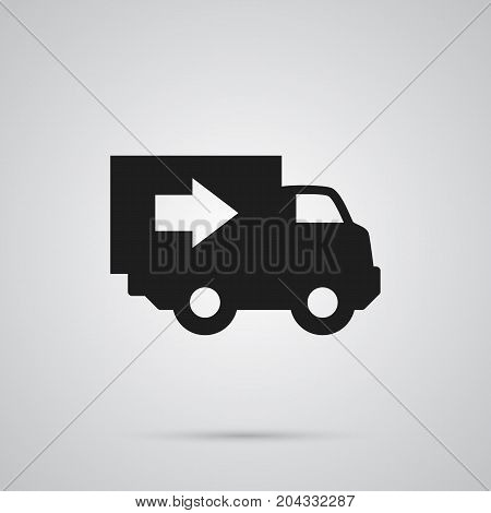 Vector Truck Element In Trendy Style.  Isolated Delivery Icon Symbol On Clean Background.
