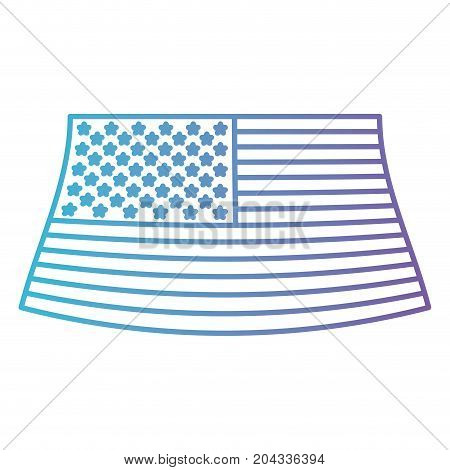flag united states of america in color gradient silhouette from purple to blue vector illustration