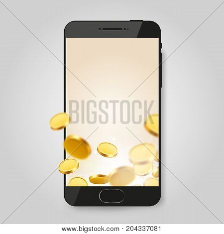 Mobile phone. Social network, messenger communication concept. Chatting and messaging concept. Vector illustration