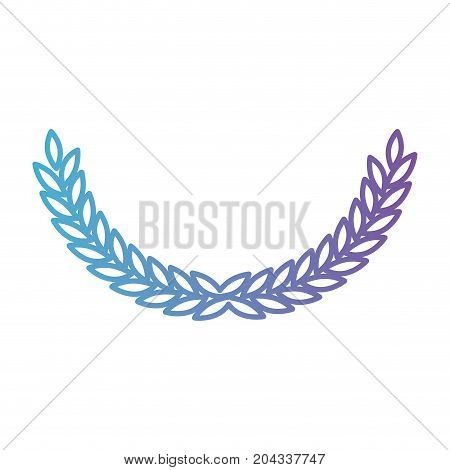 olive medium arch in color gradient silhouette from purple to blue vector illustration