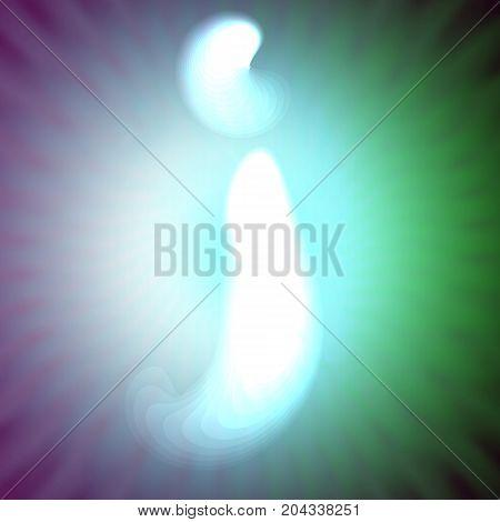 single light blue neon letter j. vector illustration