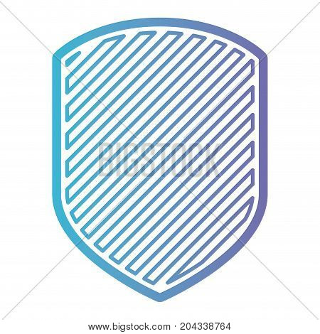 emblem with striped in color gradient silhouette from purple to blue vector illustration