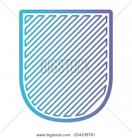 badge striped in color gradient silhouette from purple to blue vector illustration