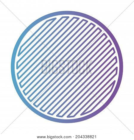 round emblem in color gradient silhouette from purple to blue vector illustration