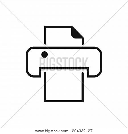 Vector illustration of an icon in the form of a printer for an application a website beznes re-introduction infographics on a white background.