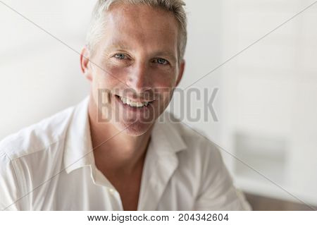 A Portrait of attractive 40 year old man