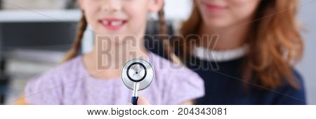 Little Child With Mother At Pediatrician Reception