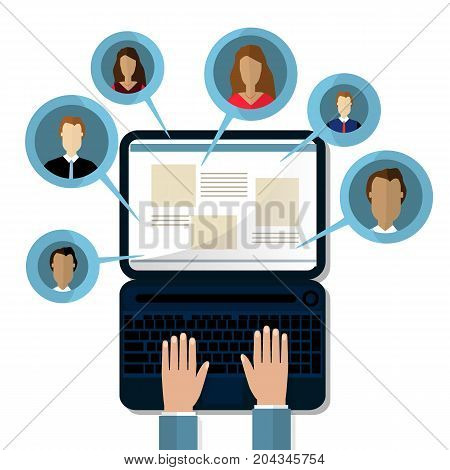 Concepts for Searching people employees candidates team members. Flat design vector illustration