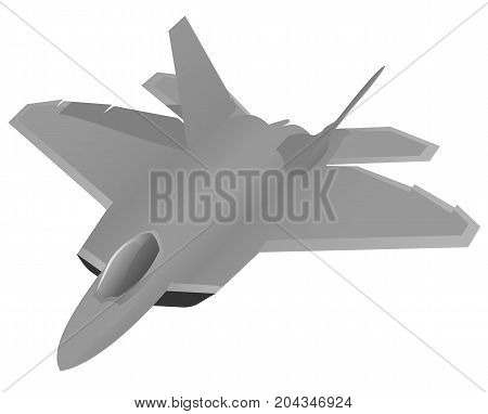 Modern military jet fighter aircraft vector illustration