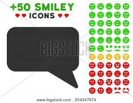 Message Cloud pictograph with bonus avatar design elements. Vector illustration style is flat iconic symbols for web design, app user interfaces.