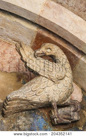 Sculpture Of An Eagle At The Cathedral Of Trento
