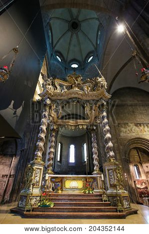 Baroque Canopy At The Cathedral Of Trento