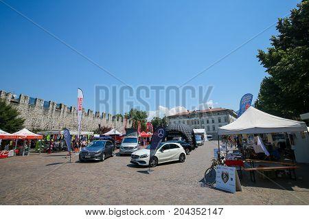 Piazza Di Fiera In Trento, Italy