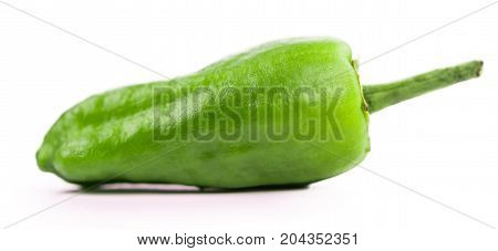 Raw Pimientos Isolated On White