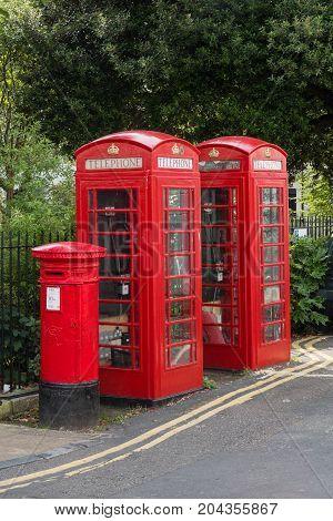 Telephone box, UK, England Great Britain England