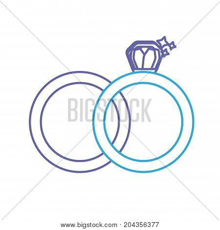line wedding ring to symbolic the love vector illustration