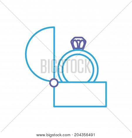line engagement ring and romantic relationship tradition vector illustration