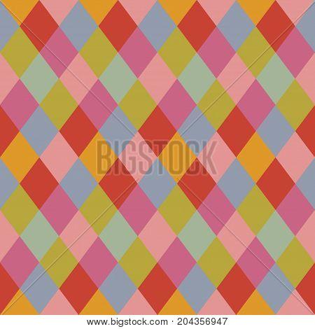 Trendy pale colors rhombus pattern background design element