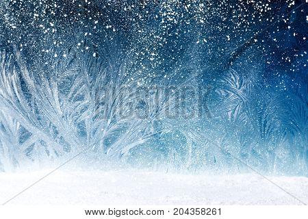 Fairy Tale Forest On Window Frost