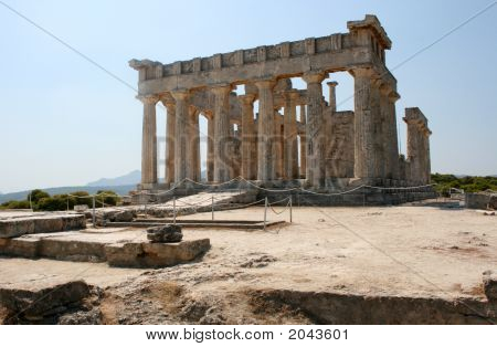 Greek Temple Of Aphaia