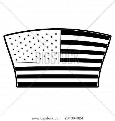 flag united states of america geometric design in monochrome silhouette vector illustration