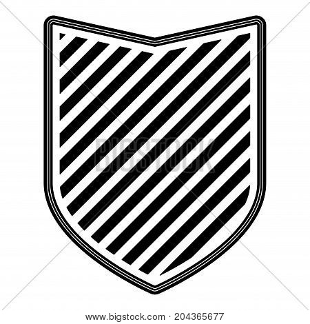 badge with striped in monochrome silhouette vector illustration