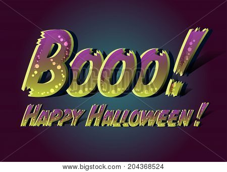 Booo happy halloween vector photo free trial bigstock booo happy halloween happy halloween funny card message design scary text with zombie colors m4hsunfo
