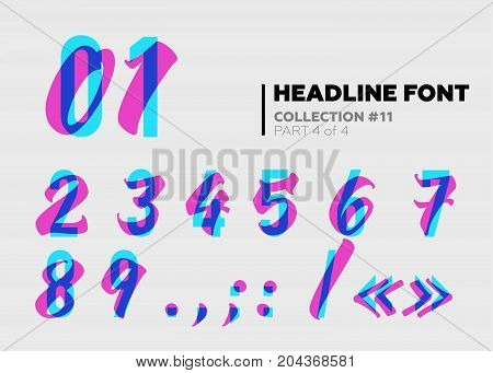 Expressive Decorative Typography. Display Type with Glitch Overlay Effect. Combination of Sans-Serif and Lettering for Party Poster Music Fest Night Club Placard Event Invitation.