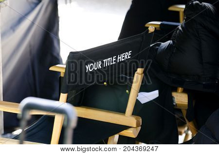 Movie director's chair with
