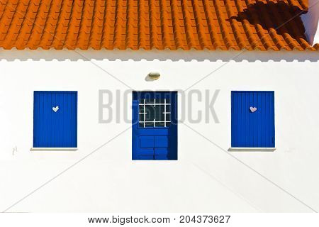 Facade of the Portuguese House Stylized Photo
