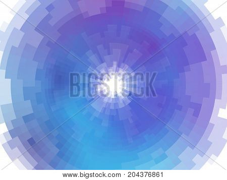 Radial Abstract Mosaic Background