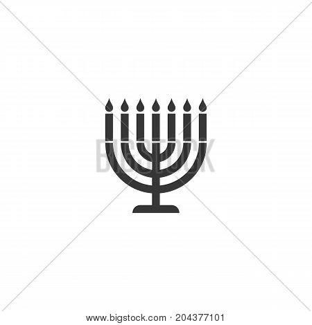 menorah icon, candlestick symbol , silhouette design